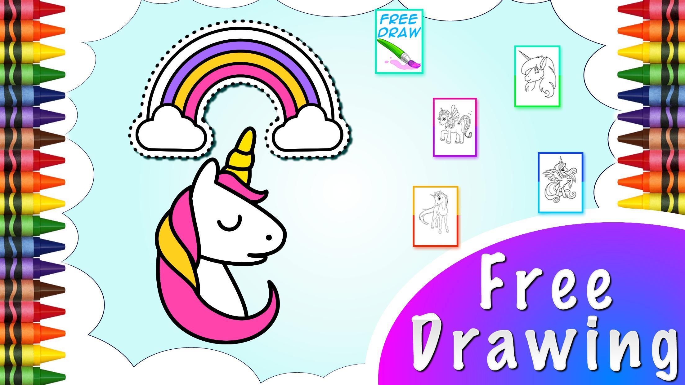 Pelangi Mewarnai Unicorn For Android APK Download