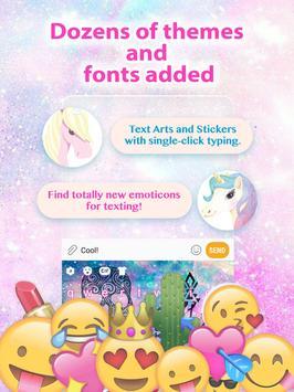 Rainbow Skull Galaxy Keyboard Theme for Girls screenshot 1