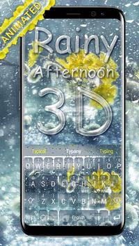 Rainy Afternoon 3D Theme Keyboard poster