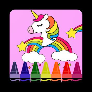 Coloring Pages for Pony unicorn poster