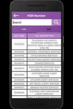 HSN&SAC Finder apk screenshot