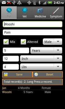Pet Health Book apk screenshot