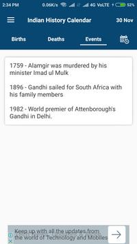Indian History Calendar screenshot 4
