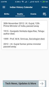 Indian History Calendar screenshot 3