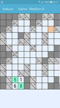 Kakuro Puzzle like Sudoku Free apk screenshot