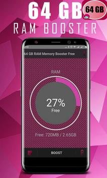 64 GB RAM BOOSTER SPEED & FREE screenshot 2