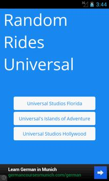 Random Rides: Universal poster