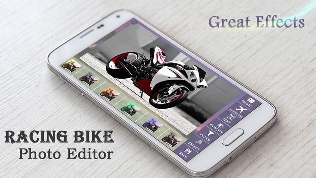 Racing Bike Photo Editor poster