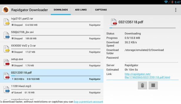 rapidgator downloader
