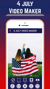4th Of July Video Maker poster