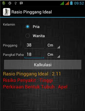 Rasio Pinggang Ideal apk screenshot