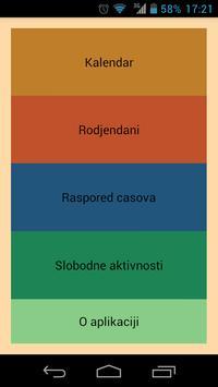 Raspored dnevnih obaveza poster