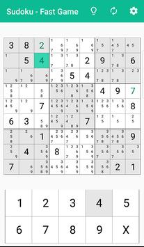 Sudoku - fast sudoku game screenshot 1