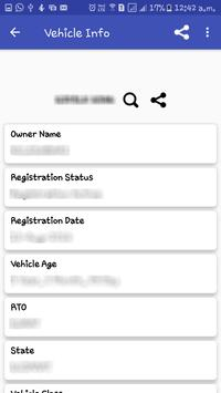 Vehicle Information (Indian R.T.O) screenshot 1