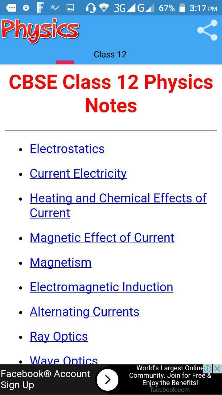 Class 12 Physics Notes for Android - APK Download