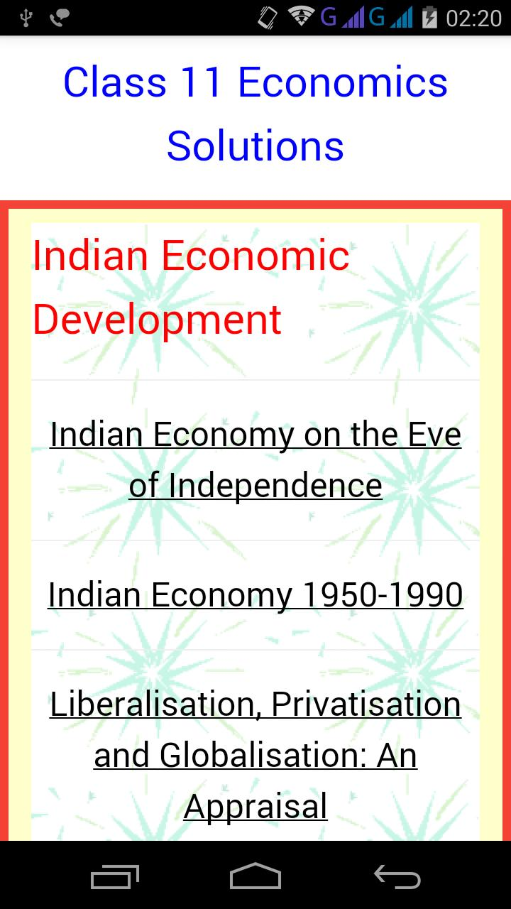 Class 11 Economics Solutions for Android - APK Download