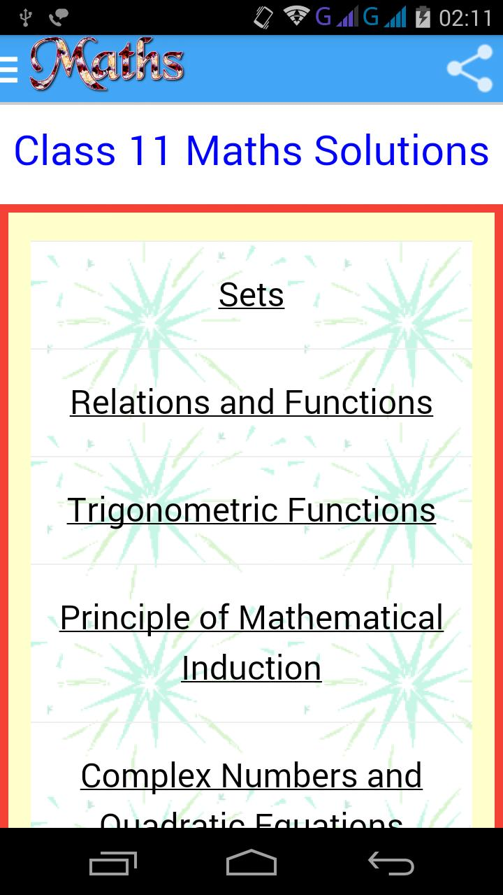 Class 11 Maths Solutions for Android - APK Download