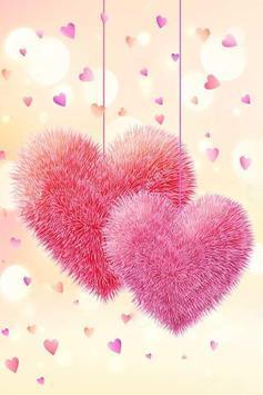 Fluffy Hearts Live Wallpaper screenshot 1