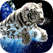White Tiger Live Wallpaper Zeichen