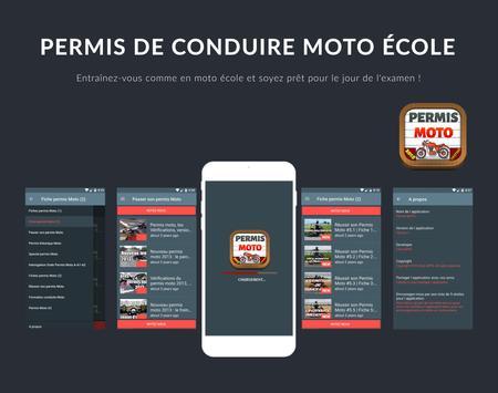 Permis Moto 2018 Permis de Conduire Moto École poster