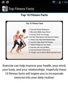 Top Fitness Facts apk screenshot
