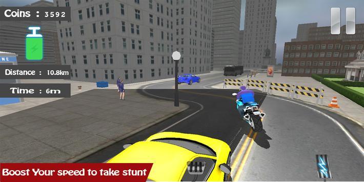 Motorbike Traffic Driving screenshot 2