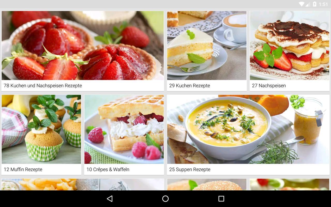 rezepte kochbuch zum kochen apk baixar gr tis comer e beber aplicativo para android. Black Bedroom Furniture Sets. Home Design Ideas