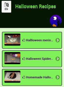 Halloween Recipes apk screenshot