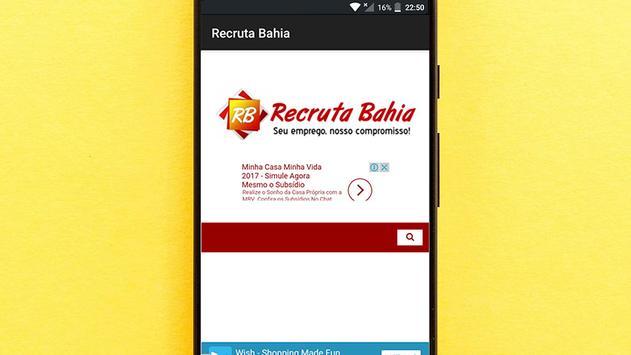 Recruta Bahia poster
