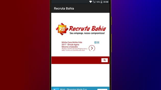 Recruta Bahia screenshot 1