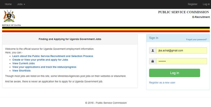 PSC E-Recruitment screenshot 2