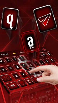 Red Neon Skull Keyboard Theme poster