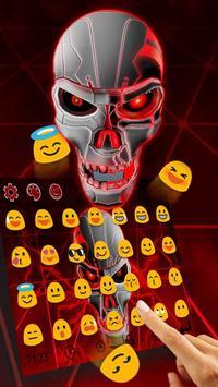 Red Neon Skull Keyboard Theme apk screenshot