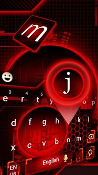 red electricity neon keyboard circuit future apk screenshot