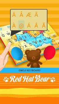 Red Hat Bear Theme&Emoji Keyboard apk screenshot