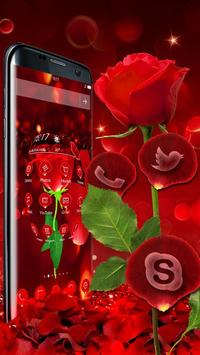 3D valentine love rose theme apk screenshot