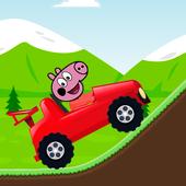 Red Pepa Pig Racing icon