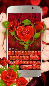 Red Rose Keyboard Theme poster