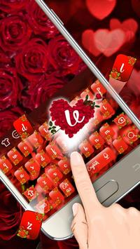 Red Rose Keyboard Theme apk screenshot