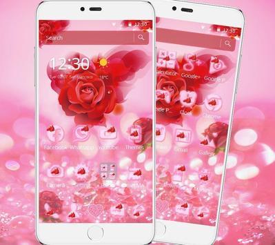 Romantic Love Rose Theme poster