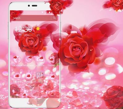 Romantic Love Rose Theme screenshot 1