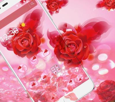 Romantic Love Rose Theme screenshot 2