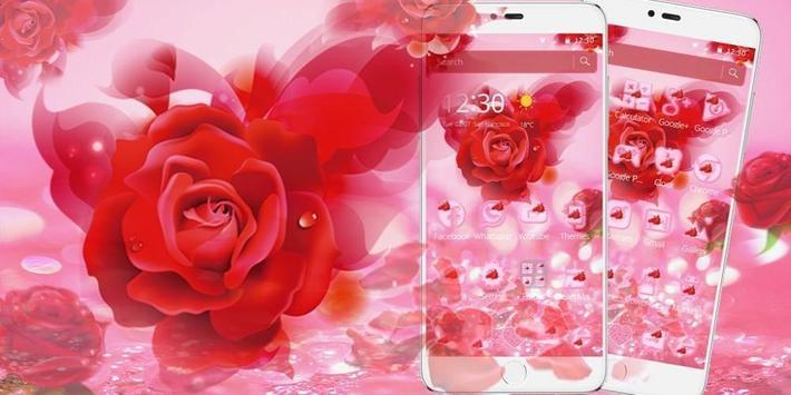 Romantic Love Rose Theme screenshot 3