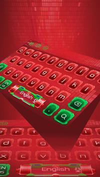 Red Technology Keyboard theme apk screenshot