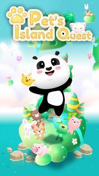 Pets island quest : Match 3 poster