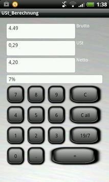 Umsatzsteuer USt Rechner screenshot 1