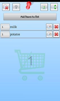 EZ Shopping screenshot 1