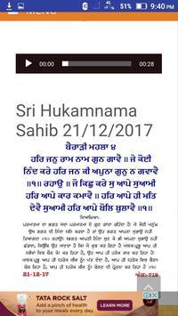 Daily Sri Hukamnama Sahib screenshot 1