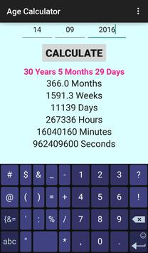 Advanced Age Calculator screenshot 2
