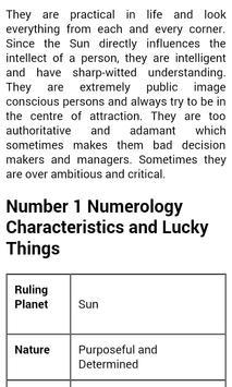 Birth Date Meaning numerology apk screenshot